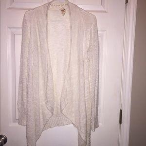 Sweaters - Women's cream color cardigan.